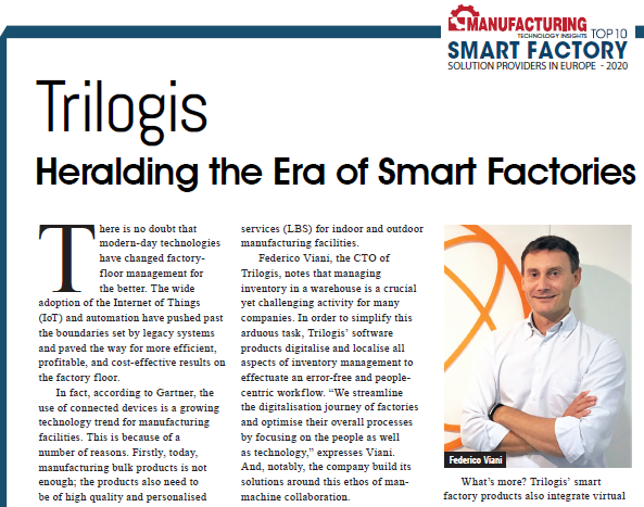 "TRACCIA 5.0:  read the article in the magazine ""MANUFACTORING TECHNOLOGY INSIGHTS"""